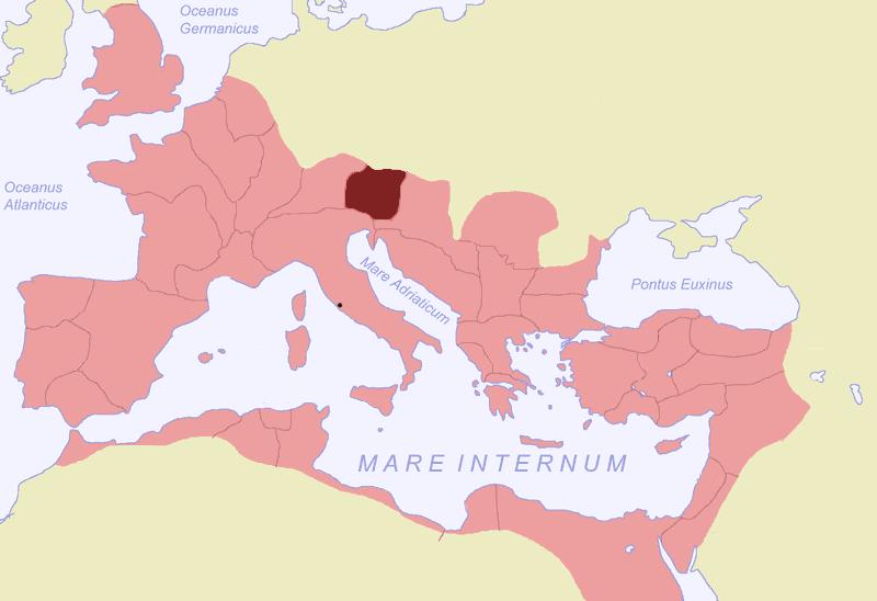 Karte vom Regnum Noricum