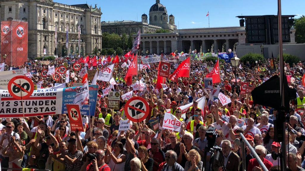 Proteste in Österreich Foto: ÖGB