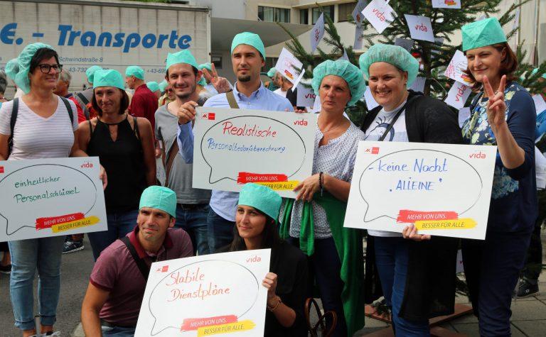 Protest vor Krankenhäusern für mehr Personal