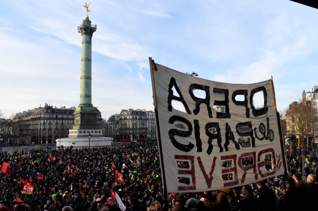 Streiks in Frankreich; Foto: © AFP