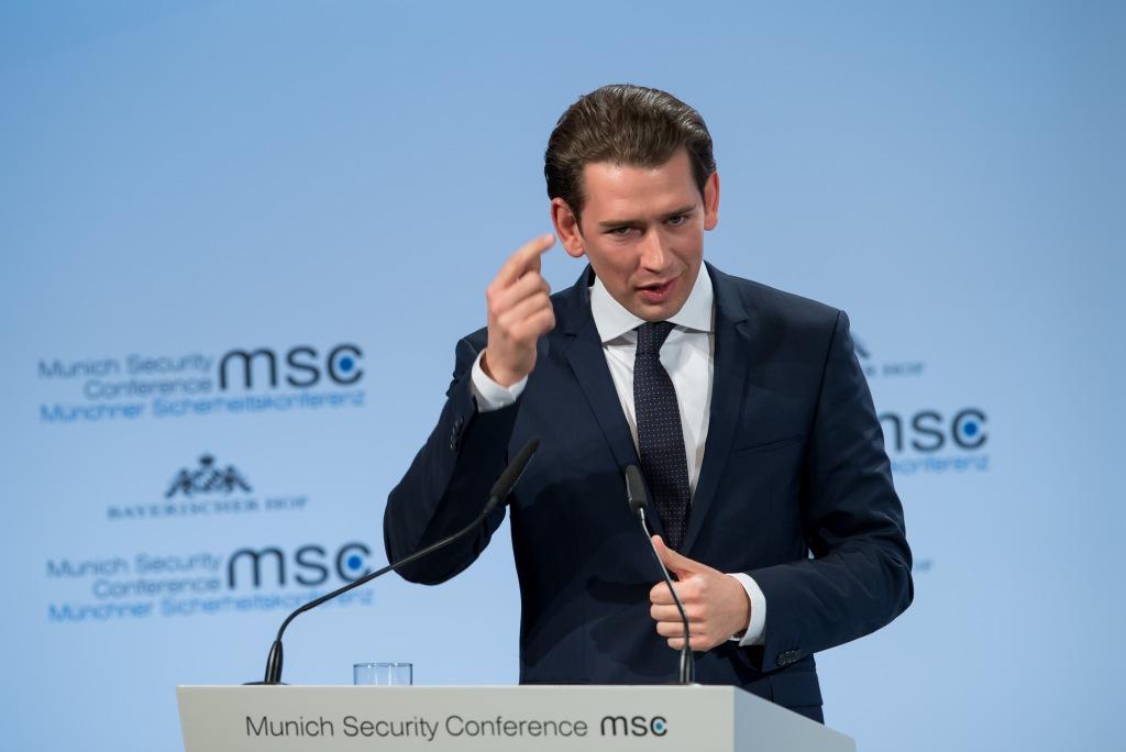 Sebastian Kurz auf der Münchner Sicherheitskonferenz 2018 ©
